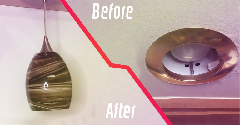 Can You Convert A Recessed Lighting To A Hanging Fixture Light Fixture