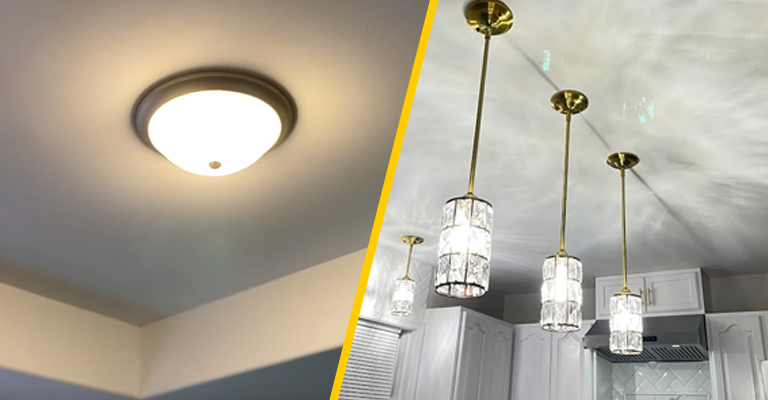 How To Turn A Flush Mount Light Into A Pendant