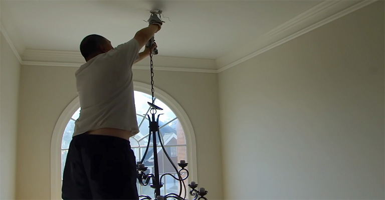 How to Secure And Attach The Chandelier