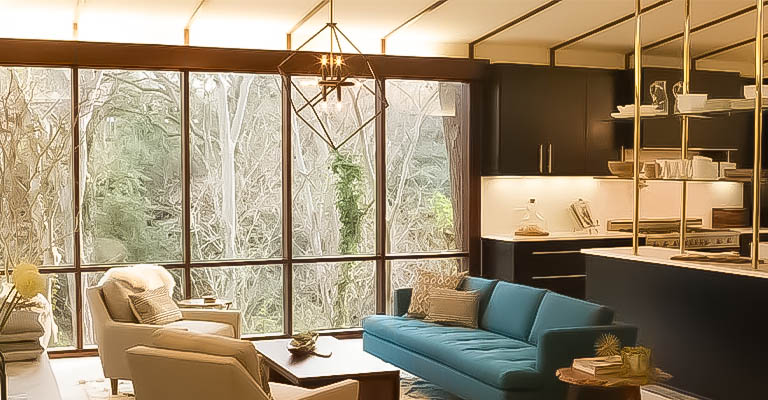 What makes a mid century lighting modern
